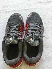 UNDER ARMOUR Mens Micro G Speed Swift gray/Red Running Athletic Shoes 14 M Good