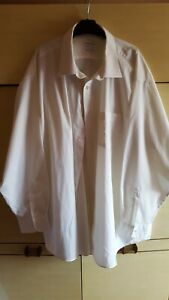 "New VAN HEUSEN 20"" Ivory Colour Cotton Rich Non Iron Long Sleeve Business Shirt"