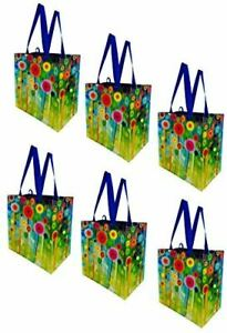 Earthwise Reusable Grocery Bags Shopping Totes Gift Bag Heavy Duty (6 Pack)