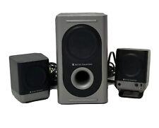 ALTEC LANSING 221 Amplified 2.1 Audio Computer Speakers & Subwoofer System EUC
