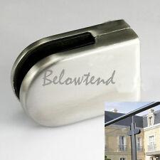New Stainless Steel Glass Clamp Bracket Holder for Window Balustrade Handrail