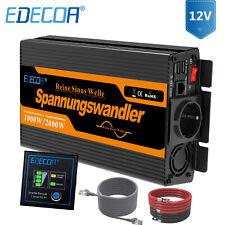 EDECOA Reiner Sinus Spannungswandler 12V 230V 1000W 2000W Wechselrichter