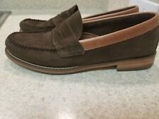 MENS GH BASS WEEJUNS LOAFERS 9.5 BROWN SUEDE TAN