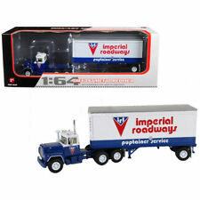 Mack R Model With 28' Pop Trailer Imperial Roadways 1/64 Diecast by First Gear