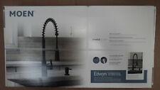 MOEN Edwyn Matte Black 1-Handle Deck-Mount Pull-Down Handle Kitchen Faucet