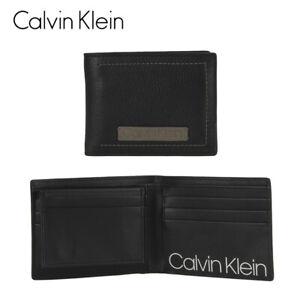Calvin Klein Black/Grey Bifold Wallet Passcase One Size