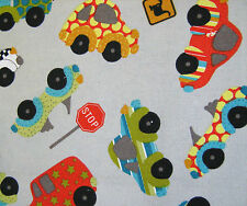 Canvas Fabric Cars Medium Weight 100% Cotton 140cm Wide Sold Per Metre