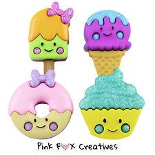 Tan Dulce Vestido para arriba Novedad Craft Botones Helados Lolly Donut Cupcake Kawaii