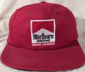 Vintage Embroidered Marlboro Racing Team Penske Snapback Hat Cigarette NEW