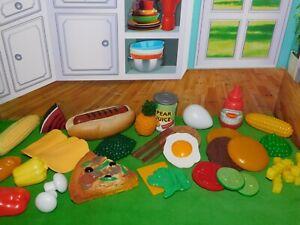 Vintage MTC Play Food Lot Pizza Hut Realistic Faux Food Hot Dog Corn on Cob RARE