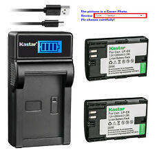 Kastar Battery LCD USB Charger for Canon LP-E6NH & Canon EOS R5, EOS R6 Camera