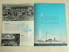 Catalogue croisière en Méditerranée Clipper Line  paquebot Stella Polaris 1952