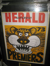 1973 RICHMOND FC PREMIERS WEG POSTER FRAMED WITH ENGRAVED PLAQUE - BRAND NEW!!!