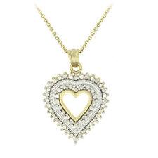 Diamant Echtschmuck-Halsketten & -Anhänger mit Herz-Schliffform