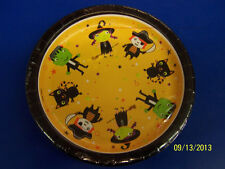 "Tiny Terrors Costume Cute Kids Halloween Theme Party 7"" Paper Dessert Plates"