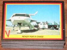 """1984 Fleer """" V """" Visitors TV Series complete 66 card set. No stickers"""