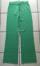 QUEEN FOR A DAY 100% Kaschmir Hose Joggingshose Grün 40 Cashmere Pants Green L