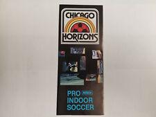Chicago Horizons 1980/81 MISL Indoor Soccer Season Ticket Brochure with Schedule