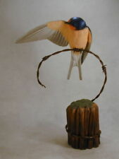 Barn Swallow Original Wood Carving