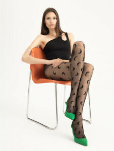 FIORE NEW MOON 20 DEN MOON DESIGN TIGHTS PANTYHOSE 4 xl SIZES BLACK NEW STYLE