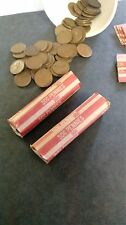 Lot of 100 WHEAT PENNIES - Two Rolls 1940-1958