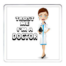 DOCTOR COASTER - Lady. Matching Doctor Mug Available. Can Be Personalised