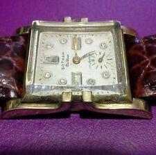 antique mens gold watch,  gotham beautiful, runs keeps time