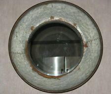 "NEW Rustic Farmhouse Tin 20"" Round Dutch Wall Mirror w/Wall-hanging Hardware"