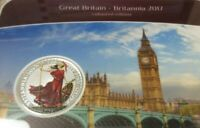 UK 2017 .999 SILVER LIMITED RED BRITANNIA  EDITION IN SLAB CERT ALL BELOW 0100