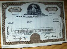 Rayette-Faberge, Inc.stock certificate attached w/ document rayee  Kane & CO