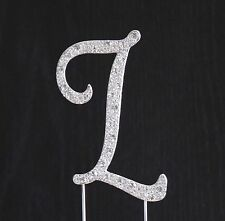 New Style Rhinestone Crystal Monogram Letter L Wedding Cake Topper 4 x 2.5 in