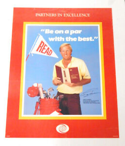 """Partners in Excellence Greg Norman 22"""" x 28"""" Poster World Book Encyclopedias"""