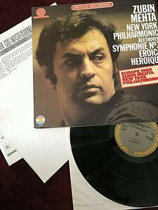 ZUBIN MEHTA VINYL ny philharmonic LP Beethoven Symphonie No 3 DIGITAL RECORDING