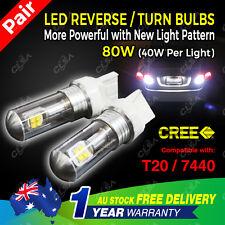 2PCS CREE High Power T20 7440 9-32V 80W LED Car Light Reverse Brake Tail Bulb