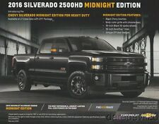 2016 Chevy Silverado 2500HD Midnight Edition info card
