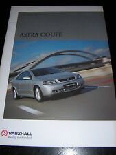 ORIGINAL VAUXHALL ASTRA COUPE SALES BROCHURE 2001