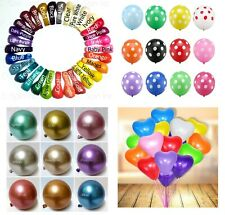 25x 12 inch 75 Choices Pearl Latex Balloon Polka Heart Metallic Party Balloons