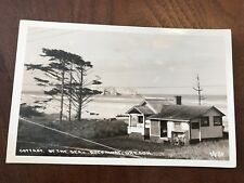 Cottage By the Sea Rockaway Oregon OR Real Photo Postcard RPPC
