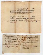 Pair of 1781 Revolutionary War Documents