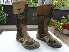 THE ART COMPANY Damen Schuhe Stiefel Leder Textil Spain Gr.36 f.Neuw