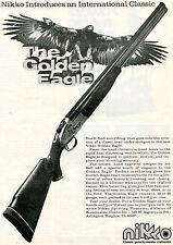 1975 Print Ad of Nikko The Golden Eagle Over Under Shotgun