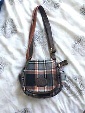 H By Henry Holland Plaid Pattern Handbag Brown Grey