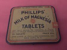 vintage Phillips Milk of Magnesia tin 30 Tablets 25c