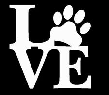 White Love Paw Vinyl Decal sticker for Car, laptop, for cat or dog lover