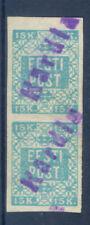 10788 Estonia,from 1919,stamps Nr:2A in pair with 2 provisory cancels from Kardl