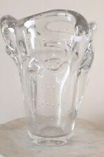 Schneider, joli vase en verre bullé