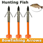 "32"" Hunting Fishing Shooting Fish Bowfishing Arrows with Broadheads Safety Slide"