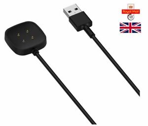 USB Cable Charger Lead Charging for Fitbit VERSA 3 Fitness Tracker UK Seller