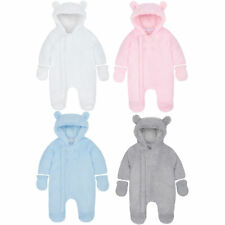 Baby Boys Girls Unisex Snowsuit Pram Suit Lined  Detachable Mitts Newborn to 6 M