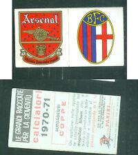 Calciatori Panini 1970-71! Scudetti Arsenal-Bologna! Nuovi con velina! RARO